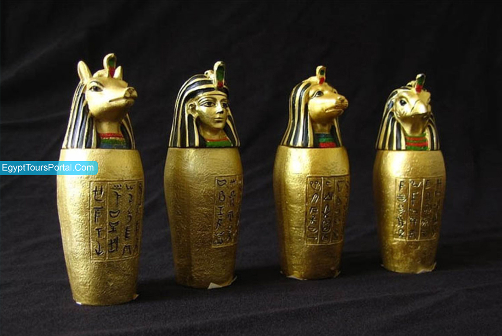 Vasos Canopos - Símbolos Egipcios Antiguos - Egypt Tours Portal