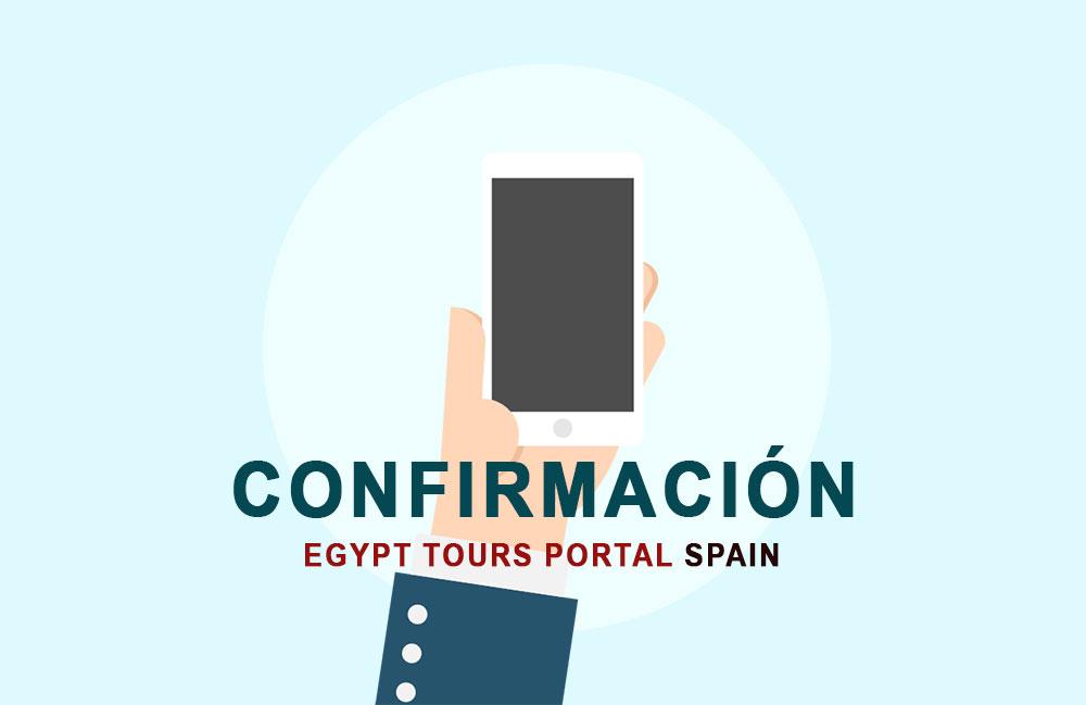 Confirmar su Viaje con Nosotros - Egypt Tours Portal Spain