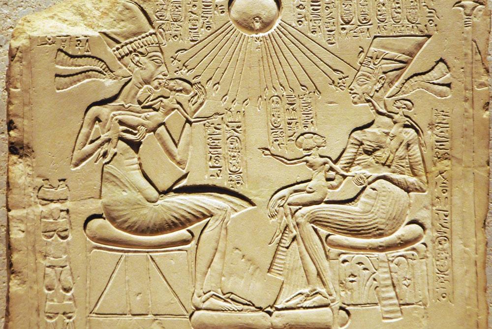 Ajenatón y Nefertiti con sus Niños - Egypt Tours Portal (ES)