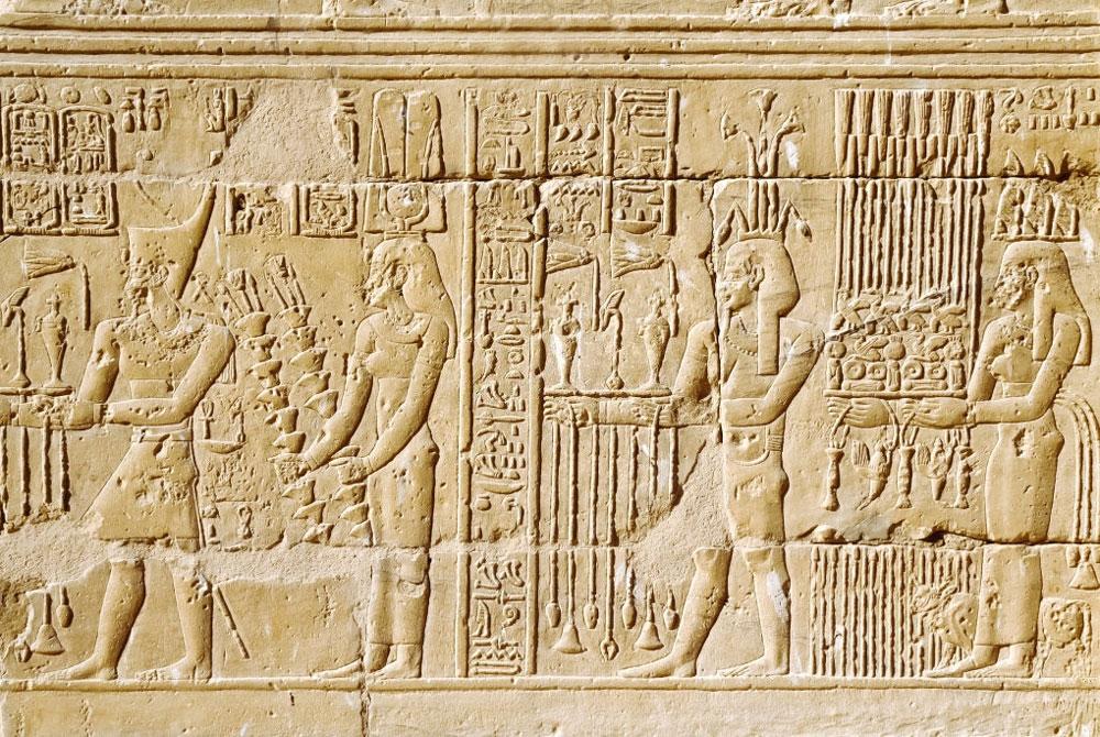 Relieves en el Templo de Wadi El Seboua - Egypt Tours Portal (ES)